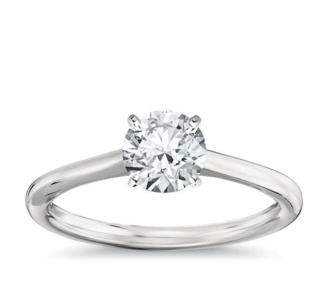 solitaire engagement ring in platinum blue nile