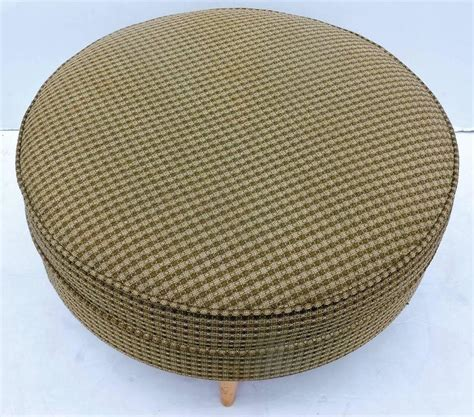 round pouf ottomans big round ottoman pouf for sale at 1stdibs
