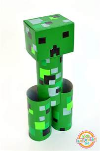 craft minecraft toilet roll creeper minecraft crafts activities