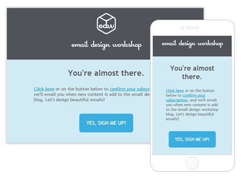 design a standout subscription confirmation email email