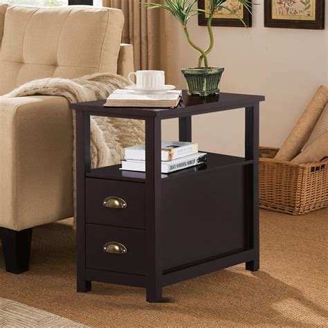 Unique End Tables With Storage Drawers Table Side Drawers Living Room End Tables With Drawers