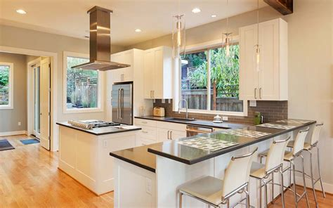 Breakfast Bar Kitchen Islands by 77 Refreshing L Shaped Kitchen Designs Page 2 Of 3