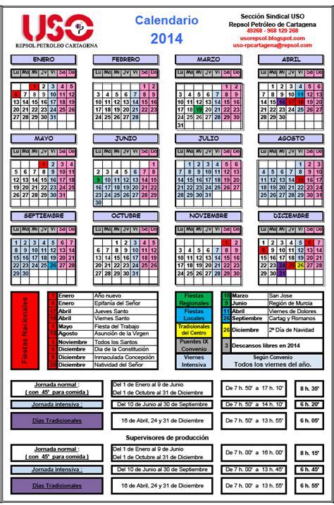 Calendario Cartagena Uso Repsol Petr 211 Leo Secci 211 N Sindical