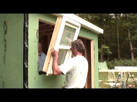 installing  windows door shed youtube