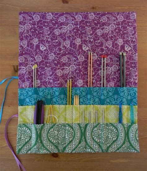 how to make a knitting needle roll nesting sticks knitting needle crochet hook roll up