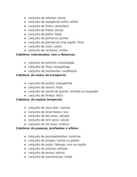 Lista substantivos coletivos