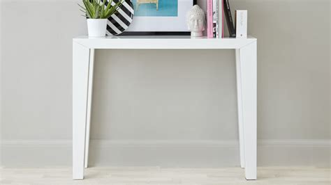 White Gloss Console Table Modern White Gloss Console Table Surface Storage Uk