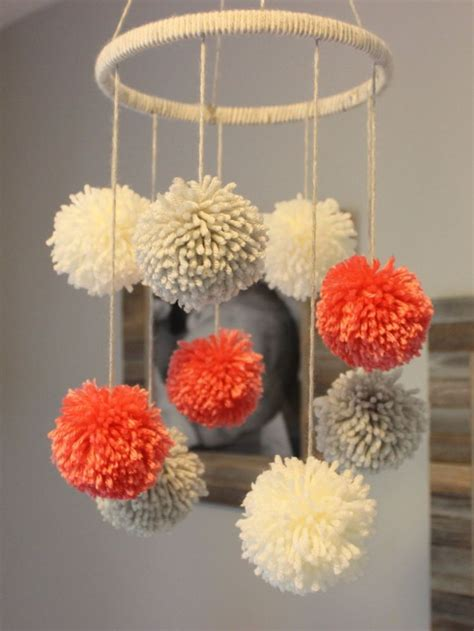 Handmade Pom Pom Decorations - 17 best ideas about pom pom mobile on pom poms