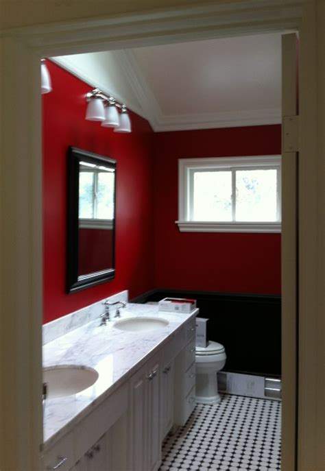 black red white bathroom 1000 images about red crimson burgundy bathrooms on