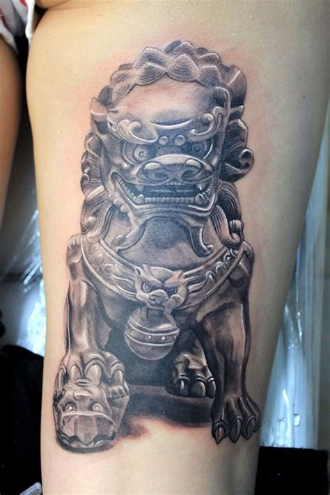 fu dog tattoo designs foo by electrographic rosenheim