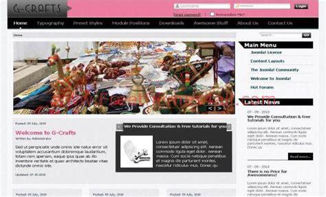 pink gray crafts jquery joomla theme
