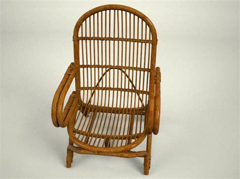 Kursi Hoe Simple Rattan Chair By Teddpermana 3docean