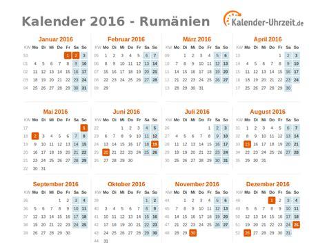 Freitag Kalender 2016 Feiertage 2016 Rum 228 Nien Kalender 220 Bersicht