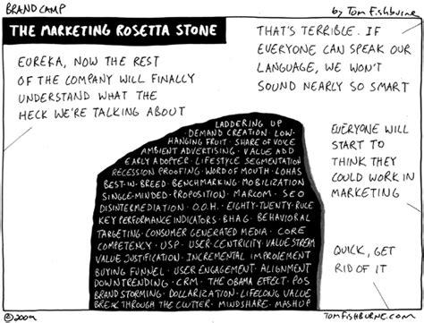 rosetta stone jokes the marketing rosetta stone marketoonist tom fishburne