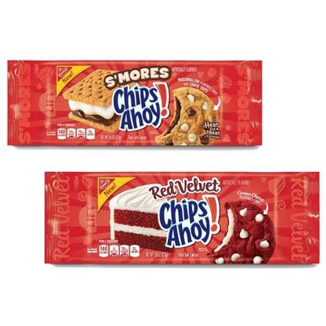 Chips Ahoy Smores Cookie new s mores and velvet chips ahoy flavors will make your summer brit co