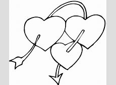 Free Printable Heart Coloring Pages For Kids Easy Drawings Of Hearts With Ribbons