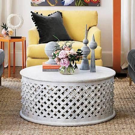 white lattice coffee table ballard designs diy coffee