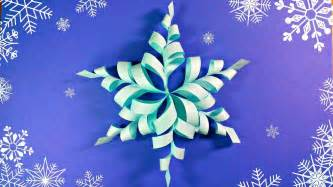 3d origami snowflake modular 3d origami snowflake frozen easy paper