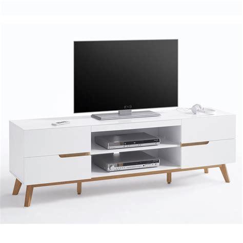 alce porta tv bianco opaco  rovere mobile soggiorno moderno
