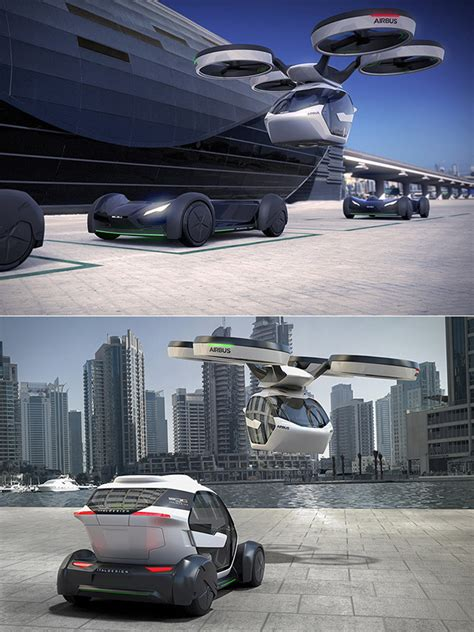 Flying Car Airbus by Airbus Unveils Pop Up A Flying Electric Car That Can Be