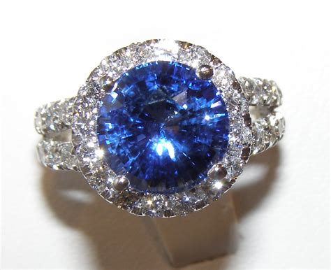 Blue Saphire Ceylon certified top ceylon blue sapphire ring 14kwg
