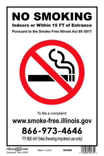 no smoking sign illinois 8 x 12 quot no smoking illinois at menards 174