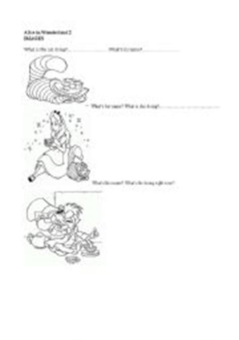 alice in wonderland printable activity sheets english worksheets alice in wonderland part 2