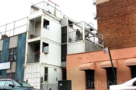 Shipping Containers As Homes Offices In Williamsburg | photos couple moves into stacked shipping container home