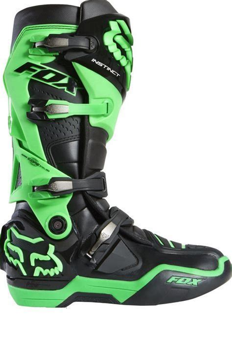 green dirt bike boots fox racing 2015 le glo green instinct boots size 13