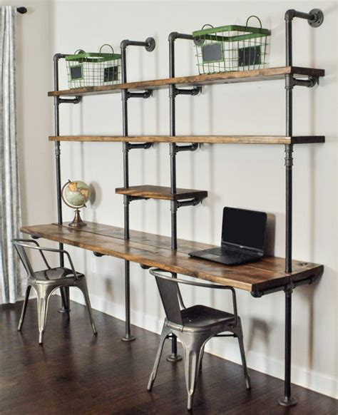 bookcase desk wall unit industrial desk and shelf unit 8 and 10 by baxterhouse