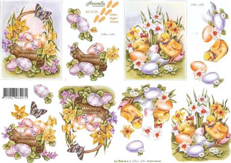 Free 3d Decoupage Sheets To Print - daffodils 3d decoupage sheet from le suh
