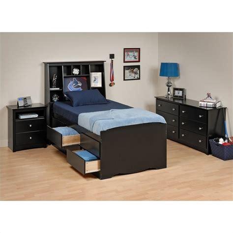 black twin bedroom set black tall twin wood platform storage bed 4 piece bedroom