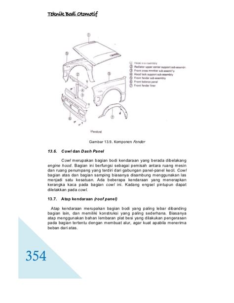 Striker Kaca Motif teknik bodi otomotif jilid 3