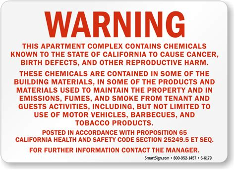 thinking of buying apartments 5 warning signs of a bad deal california prop 65 signs mysafetysign com