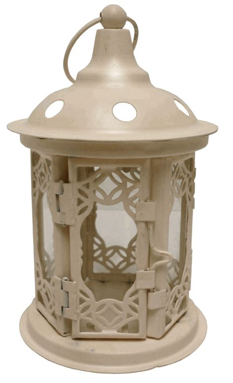 decorative circle cream candle lantern 6 25 quot height