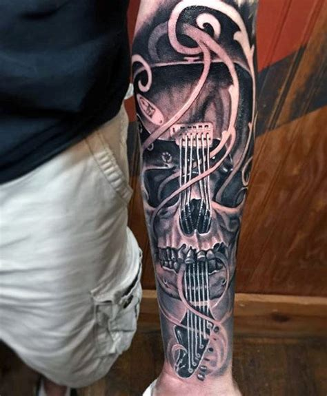 guitar sleeve tattoo designs 65 guitar tattoos for acoustic and electric designs