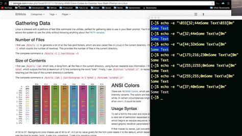 color bash colour bash script output