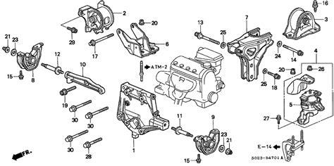 1997 honda civic parts diagram automotive parts diagram