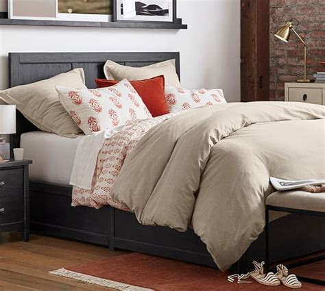 What Is A Sham Bedding by Jasper Block Print Duvet Cover And Sham Pottery Barn