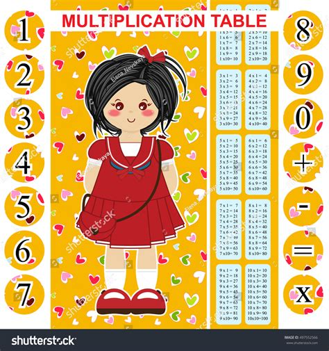 news press releases design bookmark 4342 vector multiplication table printable bookmark poster