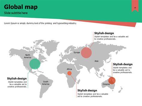 global map template 재생 에너지 파워포인트 goodpello