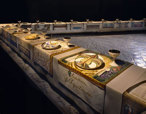 dinner by judy chicago through the flower the dinner
