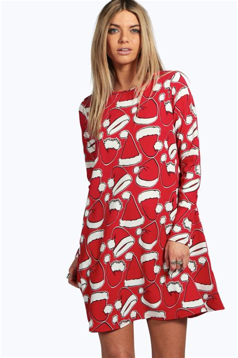 Ebay Xmas Dresses | boohoo womens christmas dresses party bodycon print