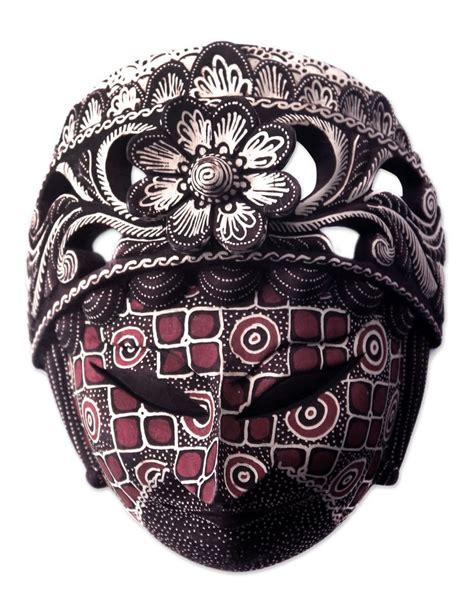 batik batu raden brown batik wood mask wall decor masks handmade