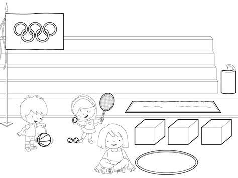imagenes niños haciendo deporte para colorear ni 241 os y ni 241 as haciendo deporte dibujos para colorear