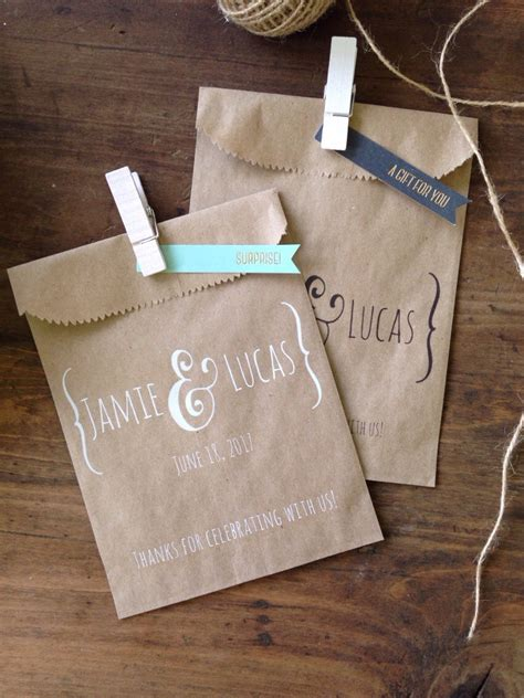 bags for buffet at wedding 73 wedding bags personalized wedding favor