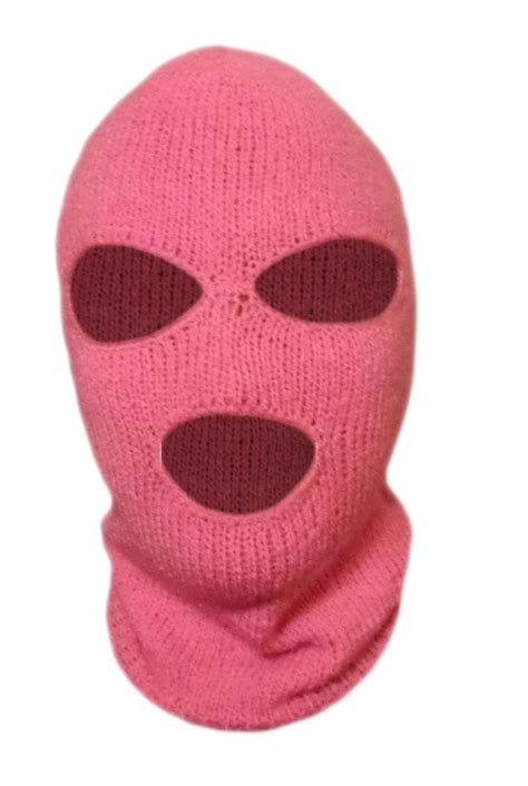 Mask Handmade - knit pink ski mask for handmade 3 mask