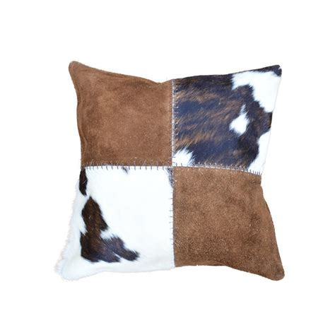 Cowhide Pillows For Sale patch multi color cowhide pillow 18 quot taxidermy mounts for sale and taxidermy trophies for sale