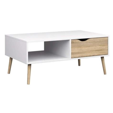 tvilum diana coffee table in white oak 7538449ak