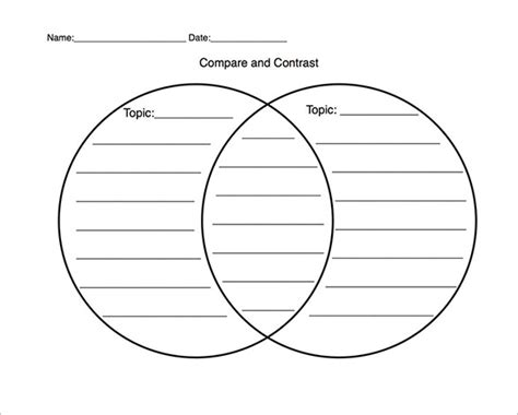 printable free venn diagrams template 10 free venn diagram templates free sle exle